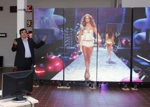 LED ed energie rinnovabili nel maxi-schermo di Megatex