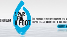 """A pair for a Foot"": acque pulite con Teva!"