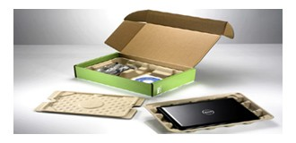 Packaging ecosostenibile per i computer DELL