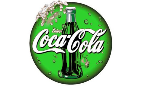 Lattine green per Coca Cola