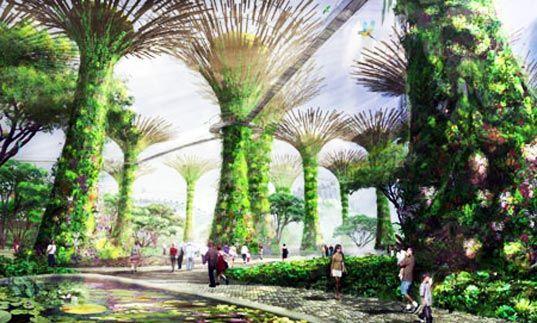 Bosco Artificiale a energia solare a Singapore