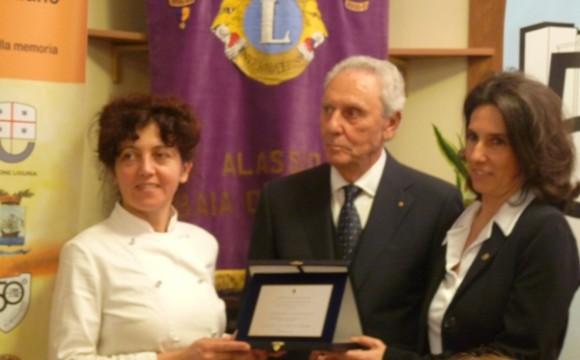 Il Lions Club premia il menù sostenibile di Silvia Merlo