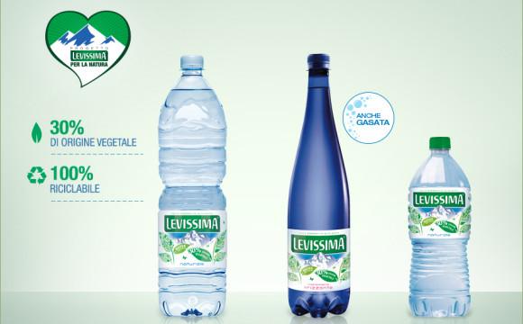 Levissima lancia Bio Based Pet: prima bottiglia 30% vegetale