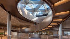 Calore, benessere ed effetto sorpresa per un edificio importante e di grande prestigio a Londra