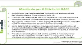 Il premio nobel Clark e ReMedia insieme per un impegno concreto: ecco il manifesto del riciclo dei RAEE