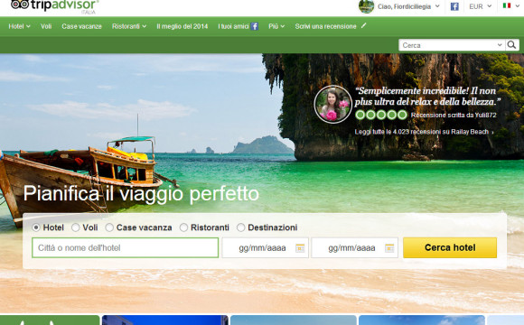 TripAdvisor: viaggi eco friendly per 1 italiano su 3