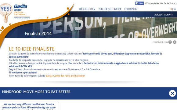 BCFN YES! 2014, selezionate le 30 migliori idee
